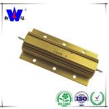 Résistances en aluminium d'or de pouvoir de Wiremound de cas