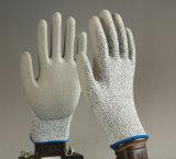 перчатка PU PU 13G Hppe отрезанная Coatingsafety упорная работая с вкладышем стеклянного волокна