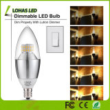 ホーム照明のためのDimmable 6W (60W等量) E12 E14 E27 LEDの蝋燭ライト