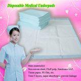 Soins médicaux remplaçables Underpad d'hôpital pour des adultes avec de grande taille