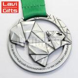 La parte superior venta barata níquel medalla en forma de reloj personalizado