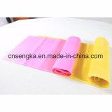 a aptidão cor-de-rosa do látex de 200*15cm une a aptidão das faixas do exercício da cinta da ioga