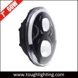 최고 Bright 60W 7 Inch - Jeep Wrangler Tj Jk를 위한 Halo Ring를 가진 높은 Low Beam DRL LED Headlight