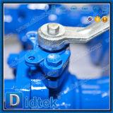 Рукоятка Didtek API 6D привелась в действие бросание шариковый клапан Wcb 2 частей плавая