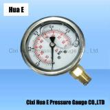水ポンプのステンレス鋼の圧力計のために満ちているオイル
