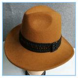 넓은 테두리 중절모 Trilby 모직 펠트 남자 모자