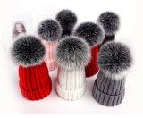 多色刷りの実質のキツネの毛皮の球の毛皮のポンポンのクリスマスの装飾の鎖