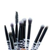 Il professionista di 10 PCS compone il kit di mescolamento delle spazzole dell'occhio degli strumenti di trucco della spazzola dell'ombretto del Eyeliner della spazzola dell'occhio del reticolo della zebra delle spazzole