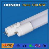 Câmara de ar fluorescente leve 18W do diodo emissor de luz de SMD2835 1200mm 150lm/W T8 para o estacionamento