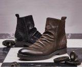 Los hombres de encaje hasta Botas de cuero de cuero de moda zapatos botas vaqueras