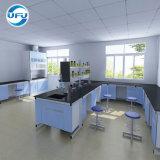 De professionele Werkbank van het Staal van het Laboratorium van de School van het Ontwerp Elektrische met Drievoudige Tapkraan en Pegboard