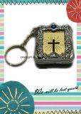 Sleutelringen Mini Heilige Bijbel Gevormde Keychains in het groot-Engelsen