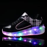 Heet verkoop de Schoenen van Heelys van de Schoenen van de Rol van Jonge geitjes met Kleurrijke LEIDEN Licht