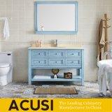 Governo di stanza da bagno di legno di legno dello specchio moderno di stile di legno solido (ACS1-W77)