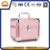 Макияж поезд случае розового цвета с лотки одной открытой (HB-3214)