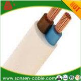 Homologação CE VDE H03VV-F 2*0,5mm2 2*0,75mm2 isolamento de PVC preto Fio Tecido trançado têxteis