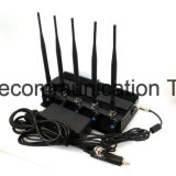 5 bandes de téléphone cellulaire le brouilleur/Blocker pour 2G+3G+WiFi+Lojack-Jamming pour 2G+3G+4G Gpsl Mobilephones+1+Lojack, le brouilleur