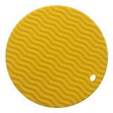 سليكوون موجة تصميم طاولة حرارة - مقاومة حصيرة فنجان [بلسمت]