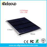Фотоэлемент модуля 115X85mm обязанности силы батареи кремния DIY всеобщих панелей солнечных батарей 12V 1.5W стандартных Epoxy поликристаллический миниый