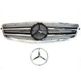 De voor Grill van de Sport van de Kap van de Zwarte & van het Chroom voor de Stijl Amg van Klasse W204 08-14 van Mercedes C