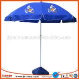 Windundurchlässiger Druckensun-Strand-Regenschirm-Sonnenschirm mit Unterseite