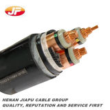 câble d'alimentation blindé isolé par XLPE moyen de la tension 15kv