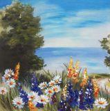 壁の装飾によって印刷されるキャンバスの海岸手の油絵