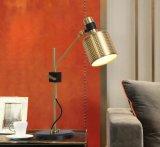 самый новый самомоднейший светильник стола освещения Aluminium+Iron комнаты изучения золота 2017dlss