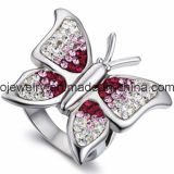 Butterfly Jewelry Ring with Crystals