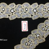de Natuurlijke Polyester van 5.5cm of het Katoenen Broodje van het Lint met de Kant Gebogen Versiering Hme848 van de Grens