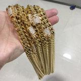 Hip Hopの金のダイヤモンドのキューバのチェーンネックレスの宝石類