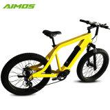 Color amarillo de 48V 750W Unidad MEDIA Bicicleta eléctrica