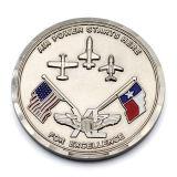 Pièce de monnaie argentée de souvenir de la coutume personnalisée par métal fabriqué à la main 999 de sports