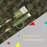 2 in Hete Verkoop 1 camoufleren de Groene Kabel van usb- Gegevens voor Mobiele Telefoon