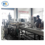 Macchina di riciclaggio di plastica con il commutatore idraulico dello schermo delle due colonne