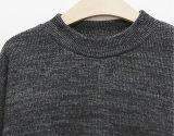 Les femmes d'OEM ont tricoté la couleur pure au chandail de pull de genou