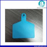 Animal de estimação plástico de ISO11784/5 Fdx-B/Hdx que segue o Tag de orelha da identificação da vaca de RFID