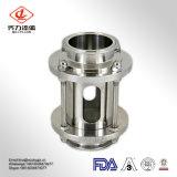 ステンレス鋼ガラス管が付いている304/の316L衛生管状のインラインサイトグラス
