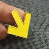 OEMの金属の黄色の矢の方向折りえりPinはのための集まる