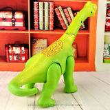 恐竜の世界からの話す漫画の電気Brontosaurusのおもちゃ