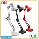 LED LED Lámparas de mesa lámparas de escritorio moderno largo brazo ajustable de plegado de iluminación de mesa rojo