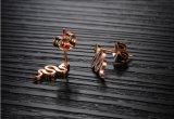 Кто любит шпильки крепления серьги для женщин мода змея дизайн закрывается золотого цвета серьги с циркон женских украшений из нержавеющей стали