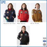 2017 Nuevo Diseño del Ejército caliente verde chaqueta impermeable para niñas