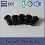 ribattino d'acciaio semi tubolare piano della testa di colore nero dello zinco di 5.5X9.6mm