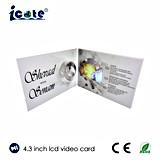 4.3 pulgadas - folleto video de la pantalla del LCD de la alta calidad con la impresión de encargo para la invitación de la boda
