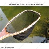 Lado tradicional em madeira de trutas Net Pesca com mosca Desembarque Net 03G-A12