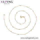 44765 Xuping joyas collar de cadena chapado en oro, el diseño más reciente Collar de la cruz de oro 18K.