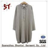 Long collier occasionnel simple de polo de robe de chemise
