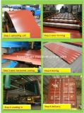 Placa de material para techos de acero acanalada de la alta calidad PPGI/PPGL