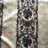 2017 напечатанных линий ткани велюра цветков для софы, драпирования